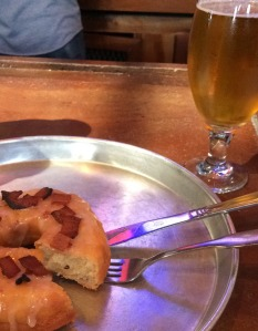 donut and beer